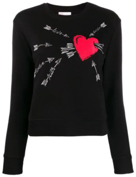 Embroidered Love Heart Sweater by Red Valentino