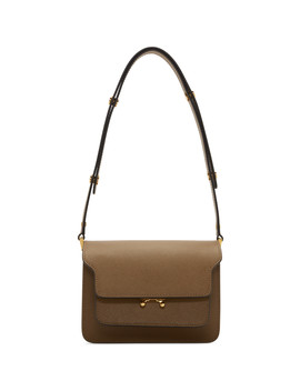 Brown Mini Trunk Bag by Marni