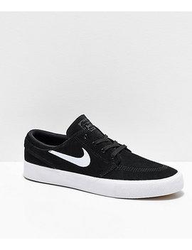 Nike Sb Janoski Rm Black & White Suede Skate Shoes by Nike Sb