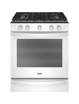 5.8 Cu. Ft. Smart Slide In Gas Range With Ez 2 Lift Hinged Cast Iron Grates In White by Whirlpool