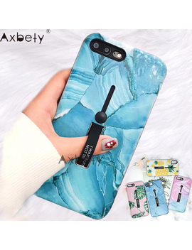Axbety For I Phone 8 Xr X 11 Pro Xs Max Case Fashion Flower Marble Phone Cover For I Phone 7 Plus 8 6 S Hide Loop Ring Grap Case by Ali Express.Com