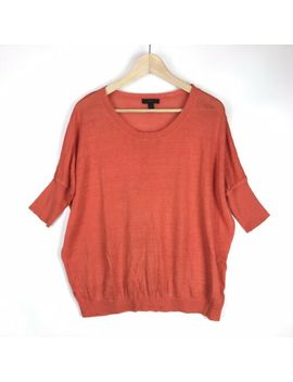J Crew Womens Xs Linen Drop Shoulder Swing Sweater Orange A5300 Summer 2014 by J.Crew