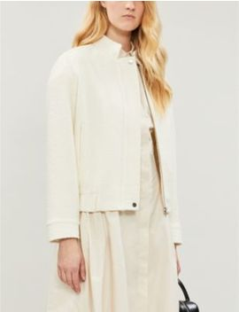 Tahlia Wool Blend Bomber Jacket by Reiss