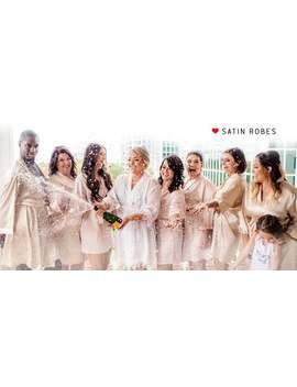 Bridesmaid Robes Sets Of 6 1, Bridesmaid Robes Set Of 1,2,3,4,5,6, Bridal Party Robes, Satin Robes, Women's Robes, Women's Satin Robes, Robe by Etsy