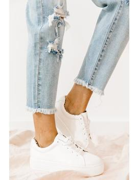 Royal White Sneakers by Luca And Grae