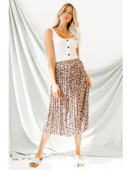 Afterglow Mauve Midi Skirt by Luca And Grae
