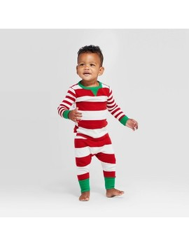 Toddler Holiday Striped Pajama Set   Wondershop™ Red by Shop Collections