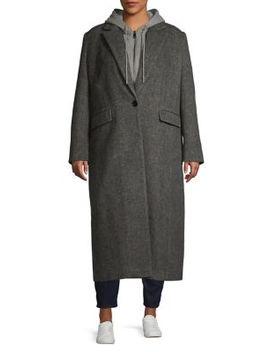 Plus Twill Wool Blend Coat by Avec Les Filles