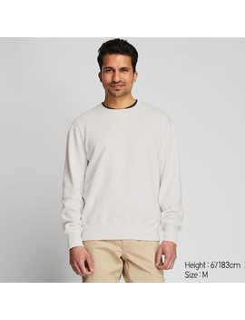 Men Crew Neck Long Sleeved Sweatshirt (1) by Uniqlo