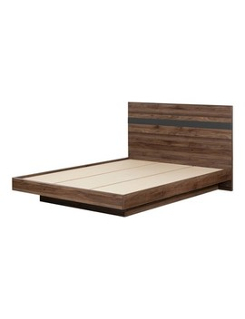 Queen Olvyn Complete Bed Natural Walnut/Charcoal   South Shore by Shop This Collection
