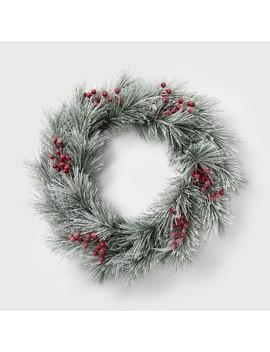 Flocked Berry Christmas Wreath   Wondershop™ by Wondershop