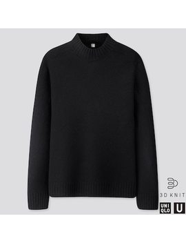 Men Uniqlo U 3 D Knit Seamless Premium Lambswool Mock Neck Jumper (3) by Uniqlo