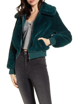 Je Tador Faux Fur Bomber Jacket by Band Of Gypsies