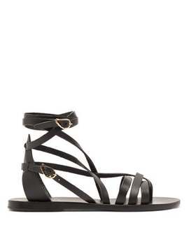 Satira Wrap Around Leather Sandals by Ancient Greek Sandals