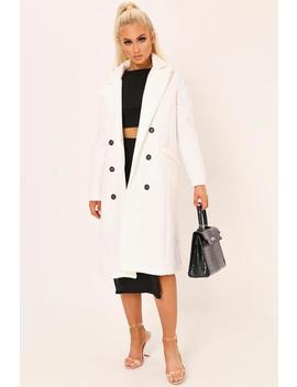 Cream Double Breasted Classic Coat by I Saw It First