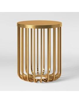 Kibara Cage Accent Table Brass   Opalhouse™ by Opalhouse