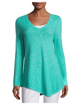 Long Sleeve Organic Links Tunic by Eileen Fisher