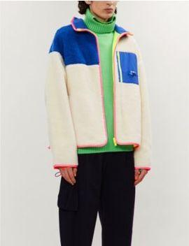 Colour Block Fleece Jacket by Ader Error