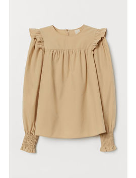 Cotton Blouse With Frill by H&M