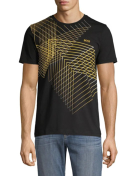 Graphic Short Sleeve Stretch Tee by Boss