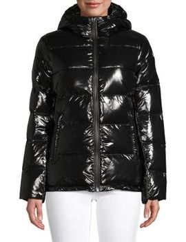 Glossy Down Puffer Jacket by Michael Michael Kors