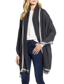 Border Cashmere Wrap by Nordstrom