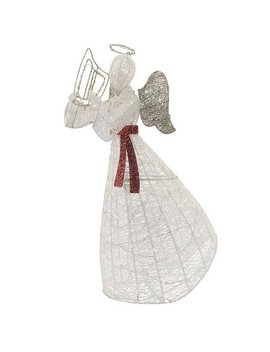 Philips Christmas Led Glitter String Angel Novelty Sculpture With 120 Lights Pure White by Philips