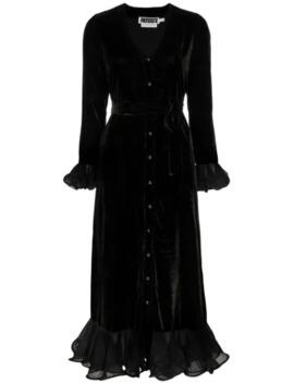 Ruffle Velvet Dress by Rotate
