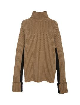 Bakersfield Color Blocked Sleeve Turtleneck Sweater by Noon By Noor