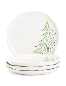 Set Of 4 Tree Appetizer Plates by Tj Maxx