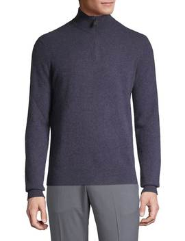 Cashmere Quarter Zip Sweater by Black Brown 1826