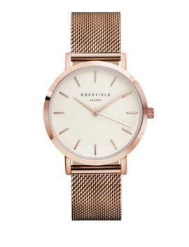 The Mercer Analog Rose Goldtone Mesh Bracelet Watch by Rosefield