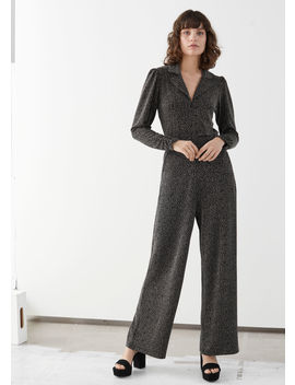 Metallic Jacquard Jumpsuit by & Other Stories
