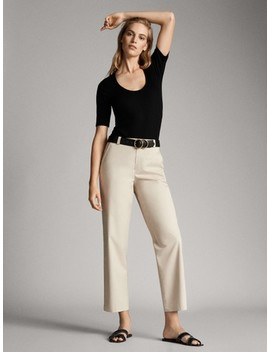 Darted 100% Linen Jogging Fit Trousers by Massimo Dutti