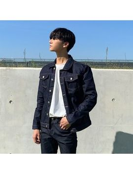 Seoul Homme   Stitched Denim Jacket by Seoul Homme