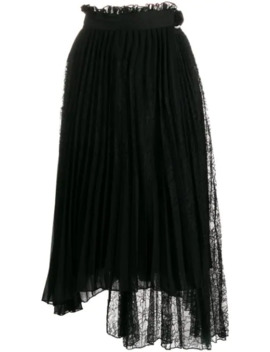 Pleated Asymmetric Skirt by Ermanno Ermanno