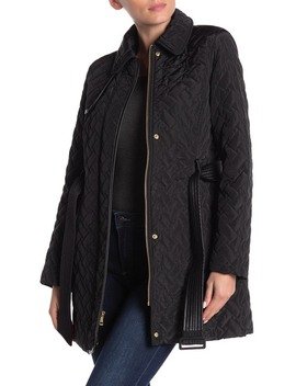 Faux Fur Trim Quilted Jacket by Cole Haan
