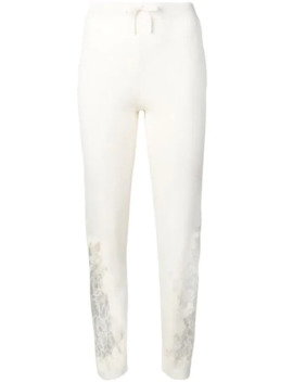 Lace Embellished Knitted Trousers by Ermanno Scervino