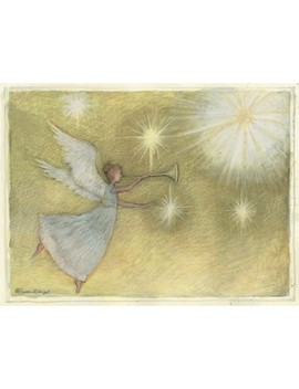 12ct Golden Angel Holiday Boxed Cards by Lang