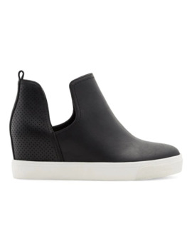Vegan Lanassa Cutout Wedge Sneakers by Call It Spring