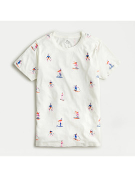 Skiers Vintage Cotton Graphic T Shirt by J.Crew