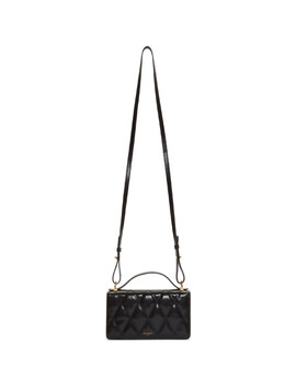 Black Leather Wallet Chain Bag by Givenchy