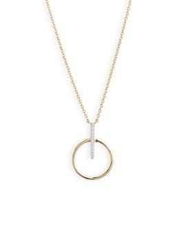 Kiera Circle Drop Pendant Necklace by Bony Levy
