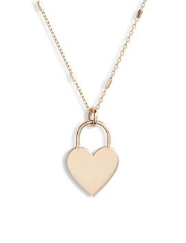 Small Heart Padlock Necklace by ZoË Chicco