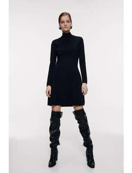 High Collar Mini Dress by Zara