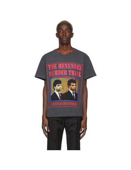 Black 'menendez Murder Trial' T Shirt by Enfants Riches DÉprimÉs
