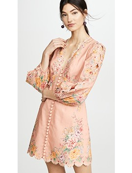 Zinnia Scallop Mini Dress by Zimmermann