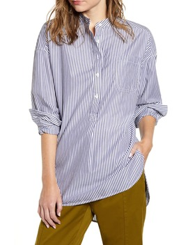 Stripe Popover Tunic Shirt by Alex Mill