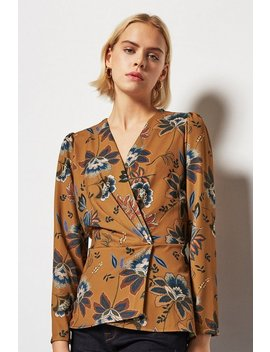 Printed Wrap Blouse Printed Wrap Blouse by Karen Millen