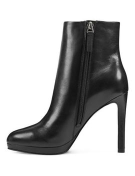 Querida Leather Booties by Nine West